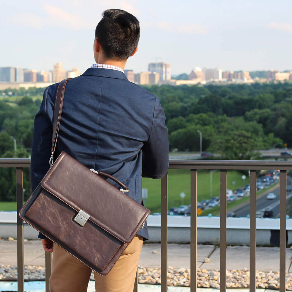 Mens Vegan Briefcase